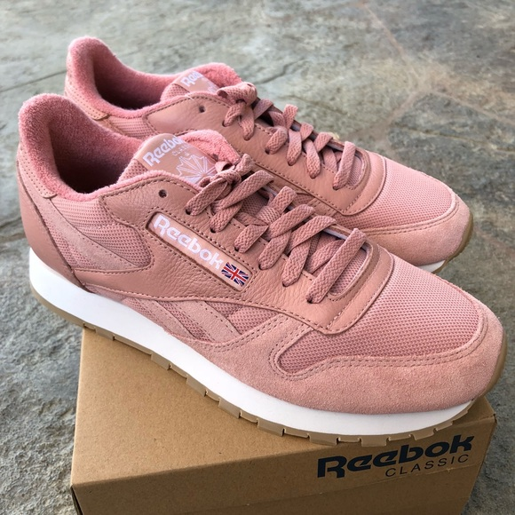 reebok classic pink suede